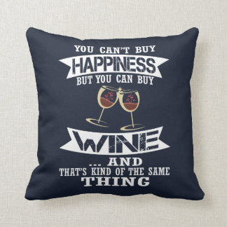 Wine is Happiness Throw Pillow