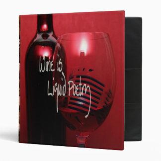 Wine Is Liquid Poetry Binder