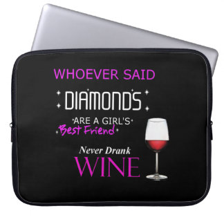 Wine Is My Bff Neoprene Laptop Sleeve
