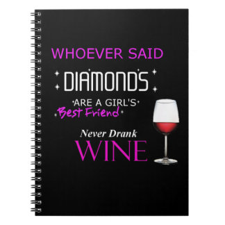 Wine Is My BFF Spiral Photo Notebook