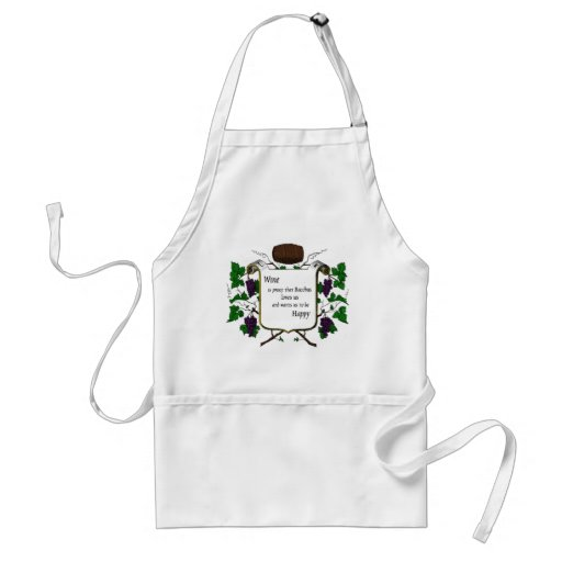 Wine is proof Bacchus loves us Aprons