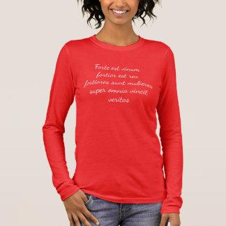 Wine is strong...Women, stronger still Long Sleeve T-Shirt