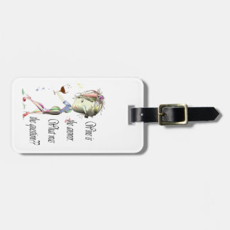 Wine is the question funny Wine saying gifts Luggage Tag