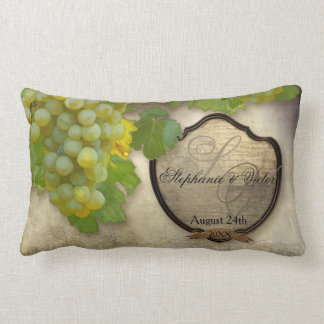 Wine Label Personalized Grape Winery Home Decor Lumbar Pillow