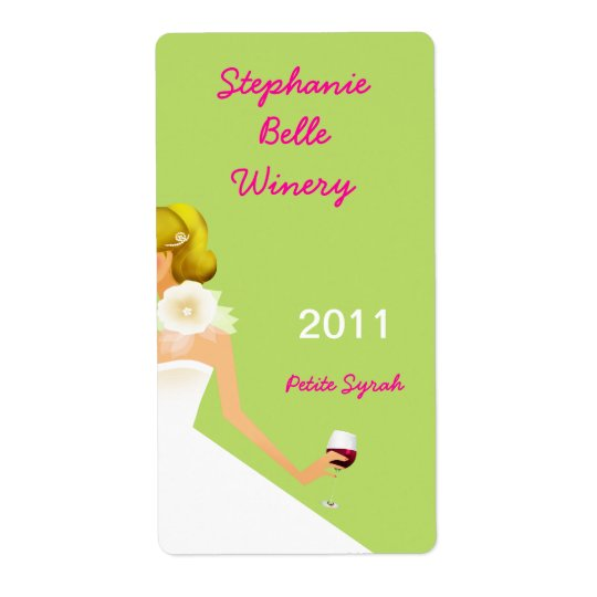 Wine label shipping label