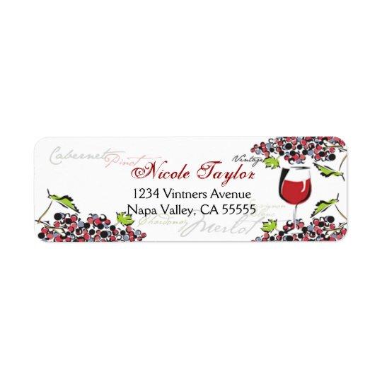 Wine Lover Address Label - Small