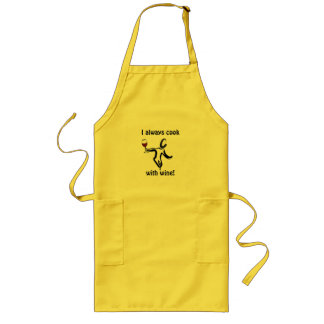 "Wine Lover Apon ""I alway cook with wine"" Long Apron"