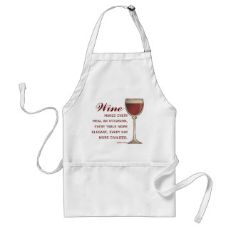 Wine Lover Elegant Wineglass of Red with Quote Standard Apron