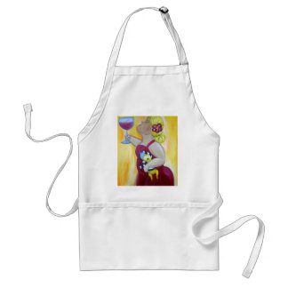 Wine lover, loves chihuahua standard apron