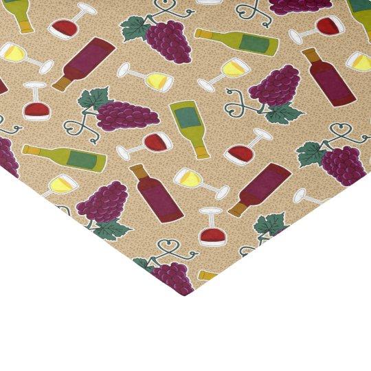 Wine Lover Pattern Tissue Paper