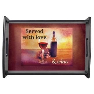 Wine Lover Personalized Serving Tray