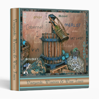 Wine Lovers Bold Turquoise & Rust Photo Binder