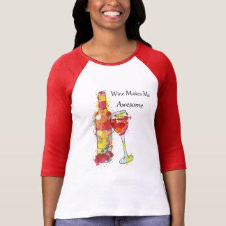 Wine Lovers Design T-Shirt for Women