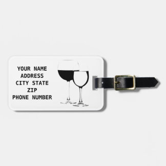 **WINE LOVER'S** LUGGAGE TAG / I.D. FOR EVERYTHING