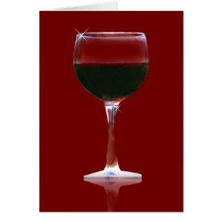 Wine Lover's Red Wine Birthday Card
