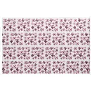 Wine Lucky Shamrock Clover Fabric