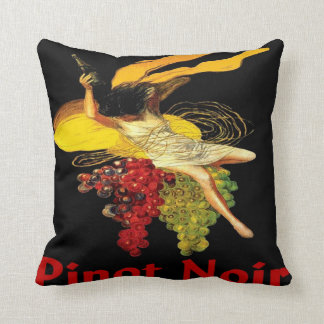 Wine Maid Pinot Noir Throw Pillow