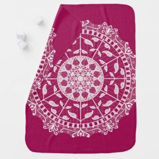 Wine Mandala Baby Blanket