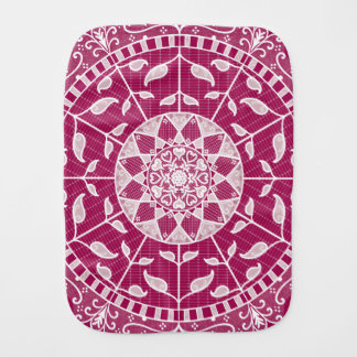 Wine Mandala Burp Cloth