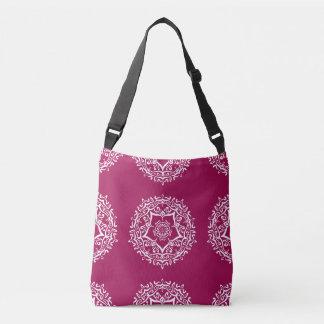 Wine Mandala Crossbody Bag