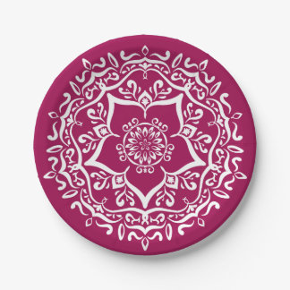 Wine Mandala Paper Plate