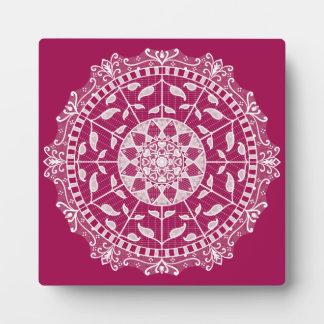 Wine Mandala Plaque