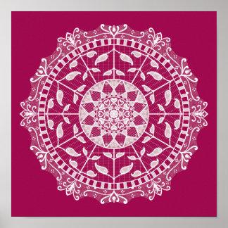 Wine Mandala Poster