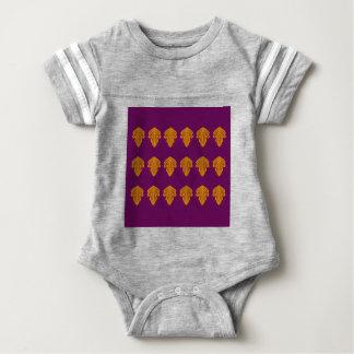 Wine mandalas gold baby bodysuit