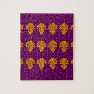 Wine mandalas gold jigsaw puzzle
