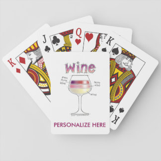 WINE, MORE WINE, EVEN MORE WINE PLAYING CARDS