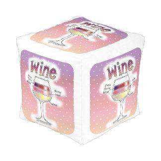 WINE, MORE WINE, EVEN MORE WINE POUF