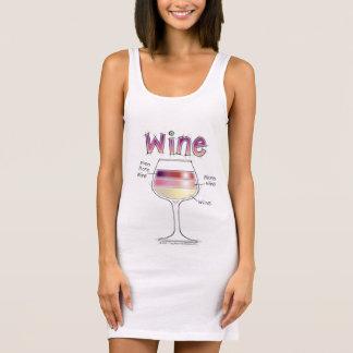 WINE, MORE WINE, EVEN MORE WINE SLEEVELESS DRESS