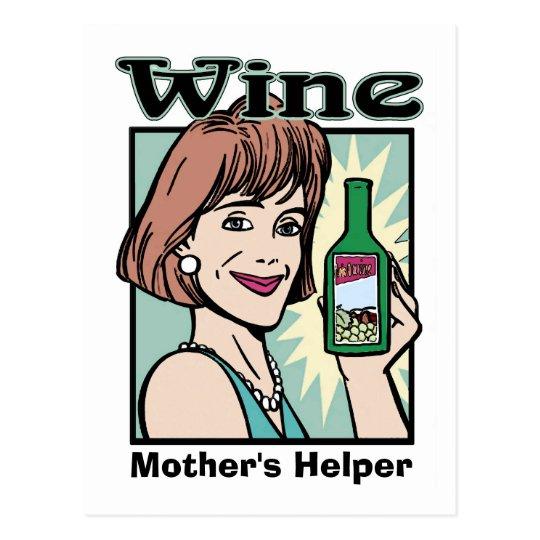 Wine Mother's Helper, edit text Postcard