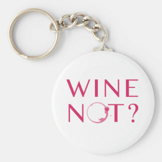 Wine Not | Wine Lover Humor Keychain
