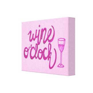 Wine O'Clock Canvas Print