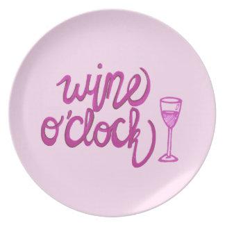 Wine O'Clock Dinner Plates