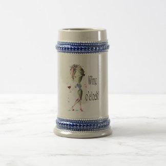Wine o'clock! Humorous Wine saying gifts Coffee Mug