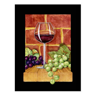 Wine on the Shelf Postcard