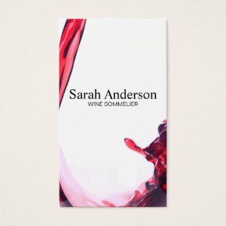 Wine Pour   Splash II Business Card