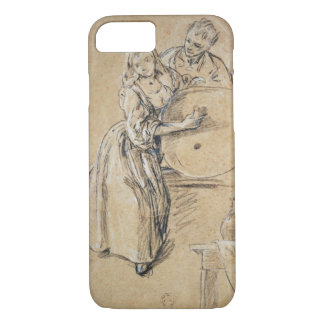Wine-pourer with a Young Man (chalk) card iPhone 7 Case