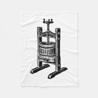 Wine Press Fleece Blanket