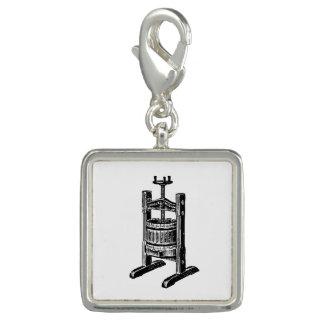 Wine Press Photo Charm