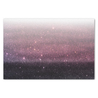Wine Purple and Navy Blue Faux Glitter Gradient Tissue Paper