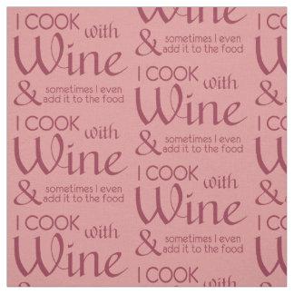 Wine Quote custom color fabric