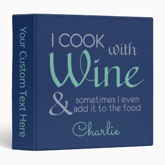 Wine Quote custom name binders