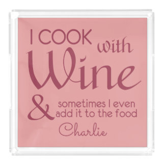 Wine Quote custom name serving trays Serving Tray
