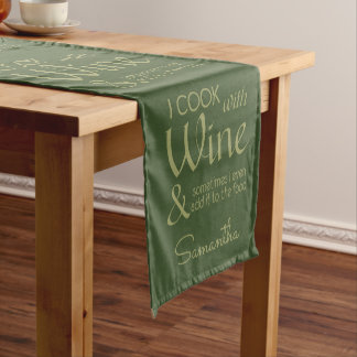 Wine Quote custom name table runner