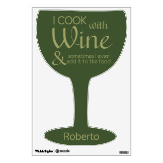 Wine Quote custom name wall decal