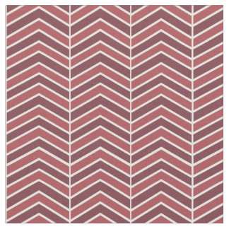 Wine Red Chevron Pattern Fabric
