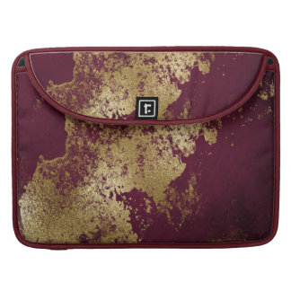 Wine Red Distressed Gold Texture Laptop Case